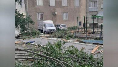 Photo of В Аягозе  пострадали семь человек во время сильного ветра