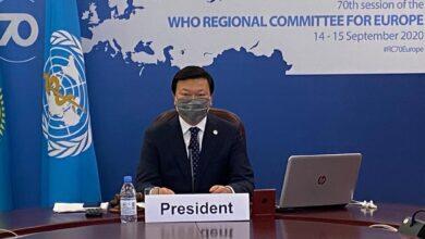 Photo of Алексей Цой избран Председателем 70-ой сессии Европейского регионального комитета ВОЗ