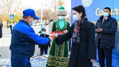 Photo of Гульшара Абдыкаликова приняла участие в церемонии вручения новых автобусов